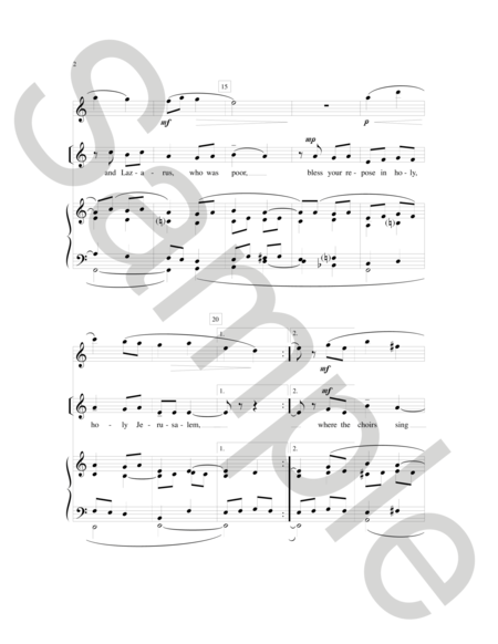 May Angels Lead You Into Paradise Sheet Music By Richard