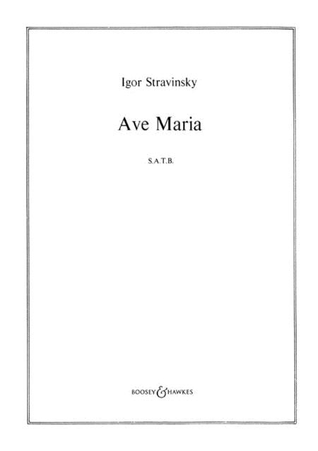 Bogoroditse Devo (Ave Maria) Sheet Music By Igor