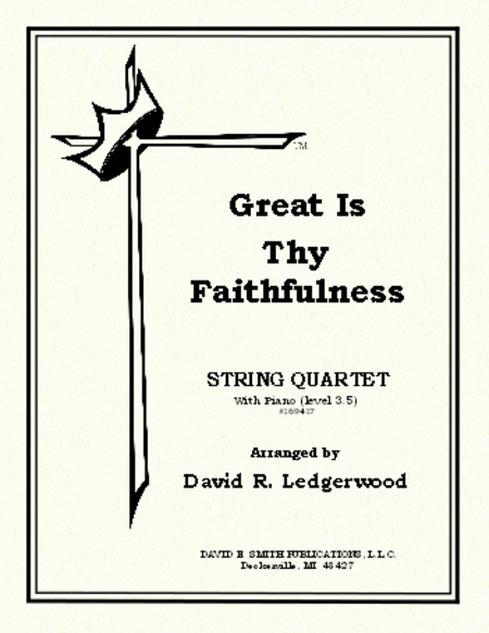 Great Is Thy Faithfulness Sheet Music By David R