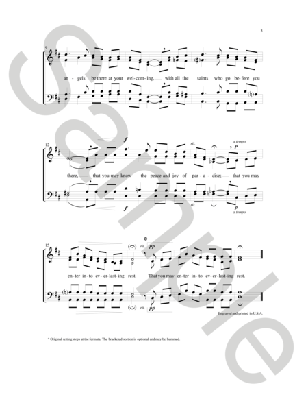 Celtic Song Of Farewell Sheet Music By Jeffrey Honore