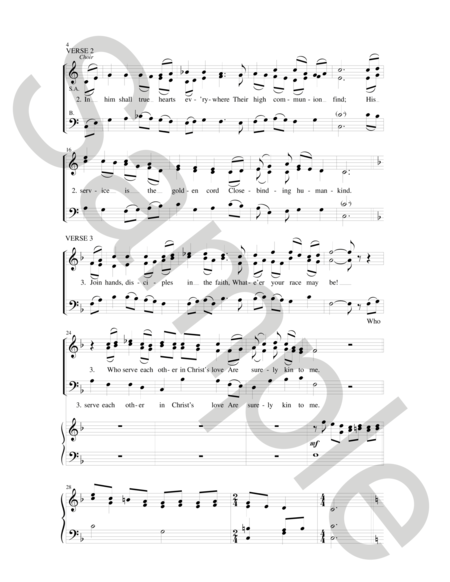 In Christ There Is No East Or West Sheet Music By Noel