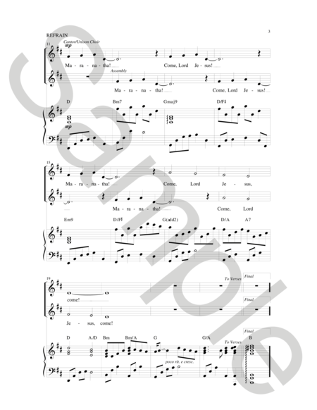Maranatha Come, Lord Jesus Sheet Music By Paul Tate