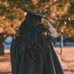 Female Graduate In Cap and Gown
