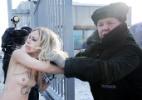 Ucranianas protestam por gás e sem roupa apesar do frio de -22ºC