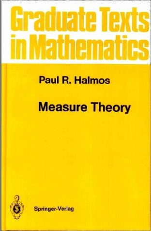 Paul Halmos Measure Theory from Springer