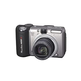 Canon PowerShot A650IS 12.1MP Digital Camera with 6x Optical Image Stabilized Zoom