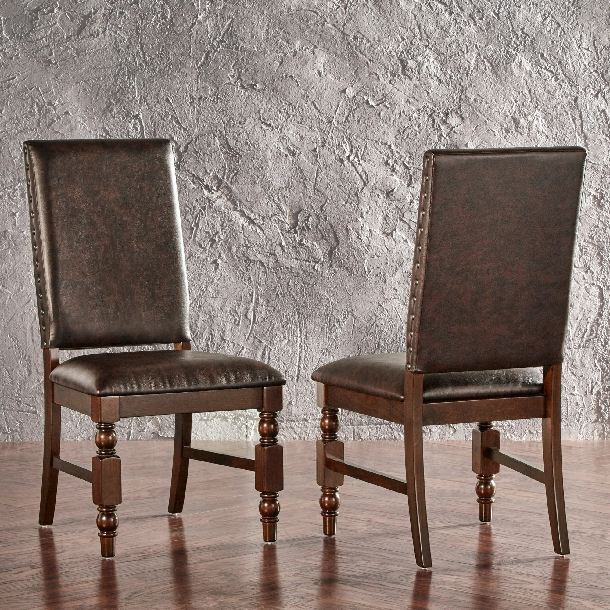 nailhead upholstered dining chair wedding covers lanarkshire flatiron chairs set of 2 by
