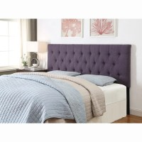 Purple King/California King Size Tufted Upholstered ...