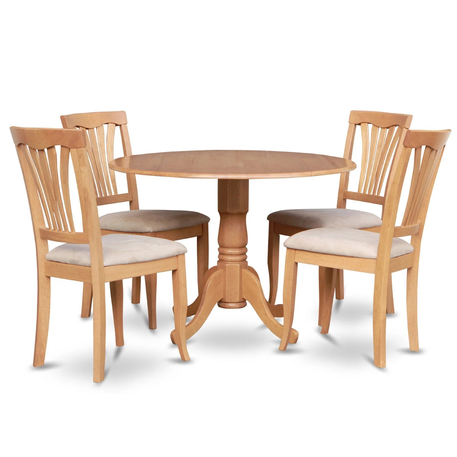 Round Kitchen Table And Chairs Set Oak Round Kitchen Table And 4 Kitchen Chairs 5 Piece