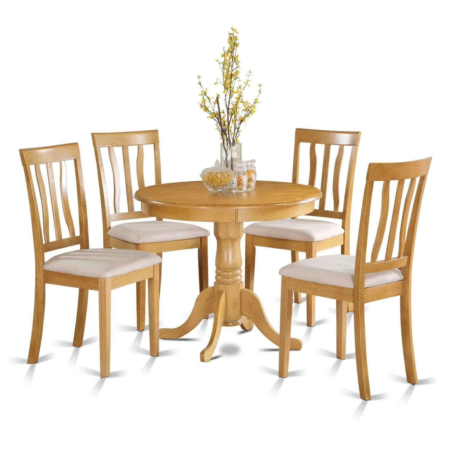 small kitchen table and chairs set ergonomic chair with lumbar support oak 4 dining ebay