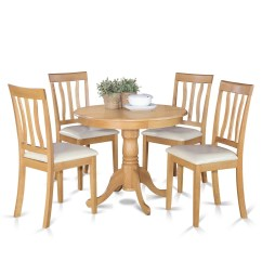 Small Kitchen Table And Chairs Set Folding Canopy Chair With Footrest Oak 4 Dining Ebay