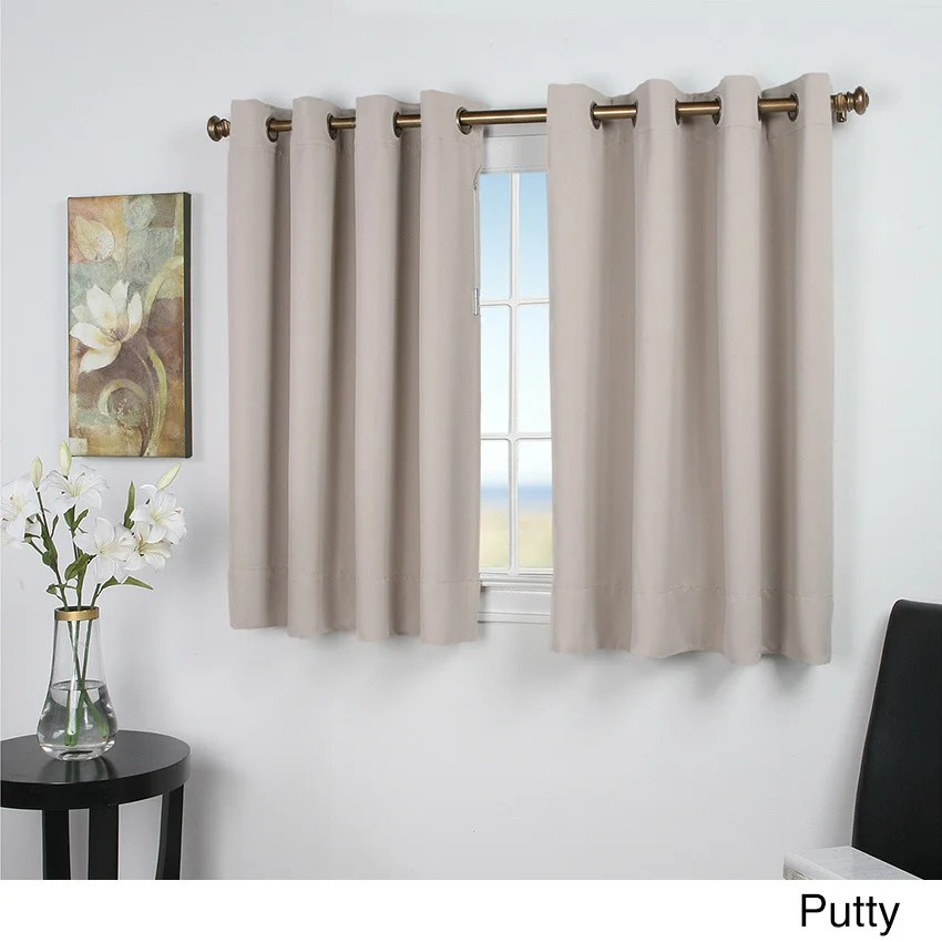 Ultimate Blackout 54Inch Short Length Grommet Curtain