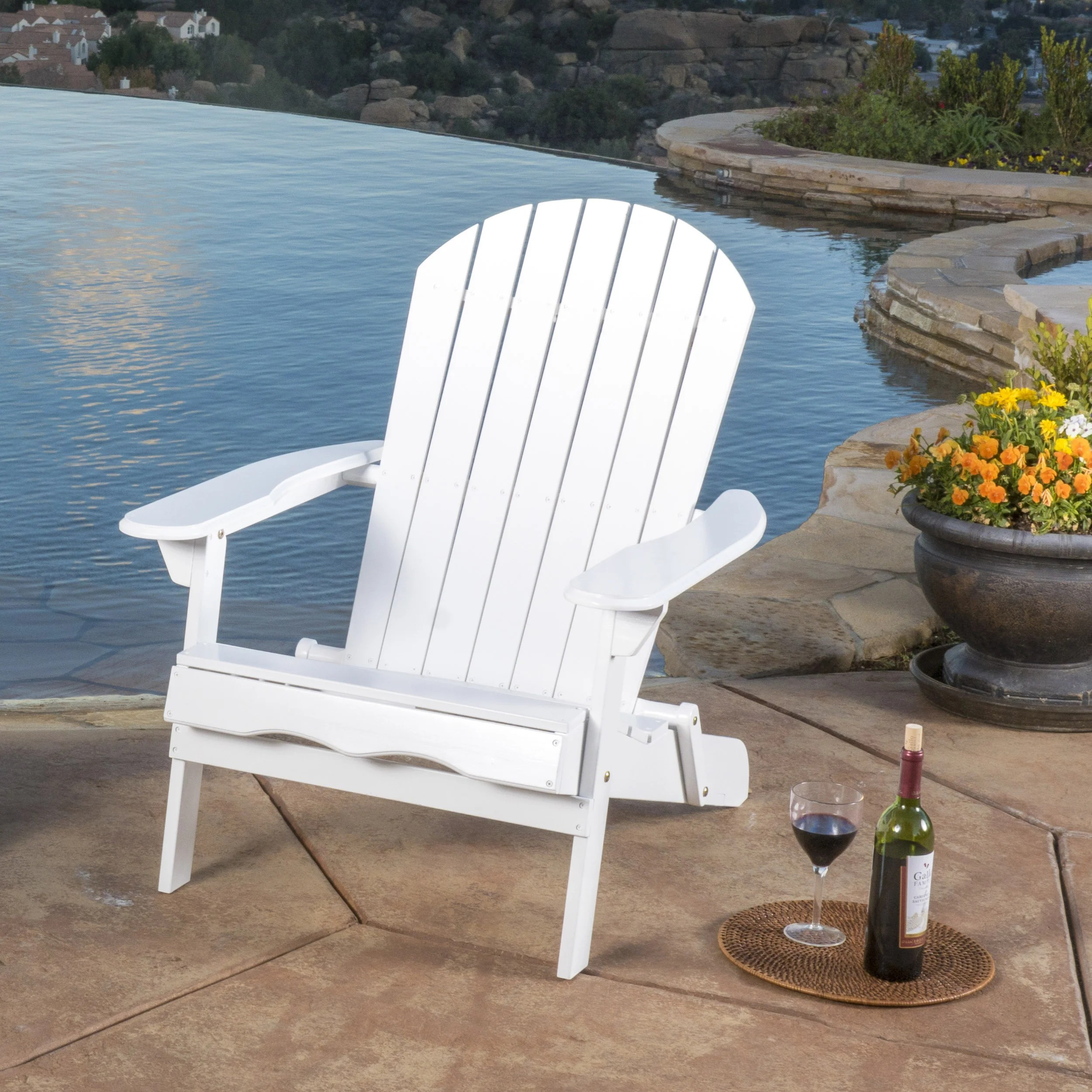 reclining camping chair with footrest first high hayle outdoor wood adirondack
