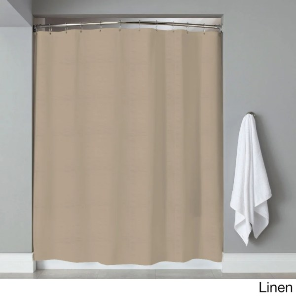 Hotel Quality Embossed Stripe Fabric Shower Curtain Liner