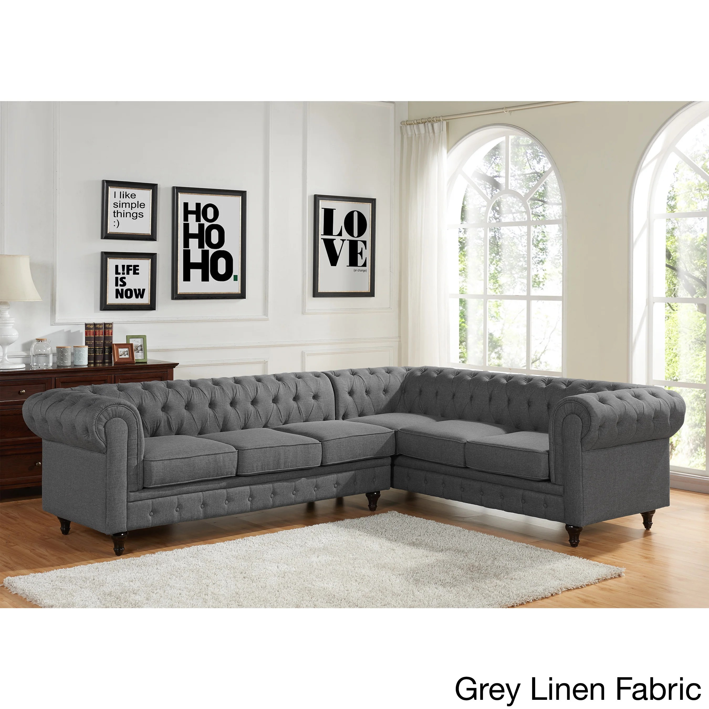 rolled arm sofa chaise convertible bed repair prices sophia modern style tufted left facing