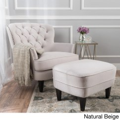 Tafton Club Chair Best Office Under 200 Tufted Fabric With Ottoman By