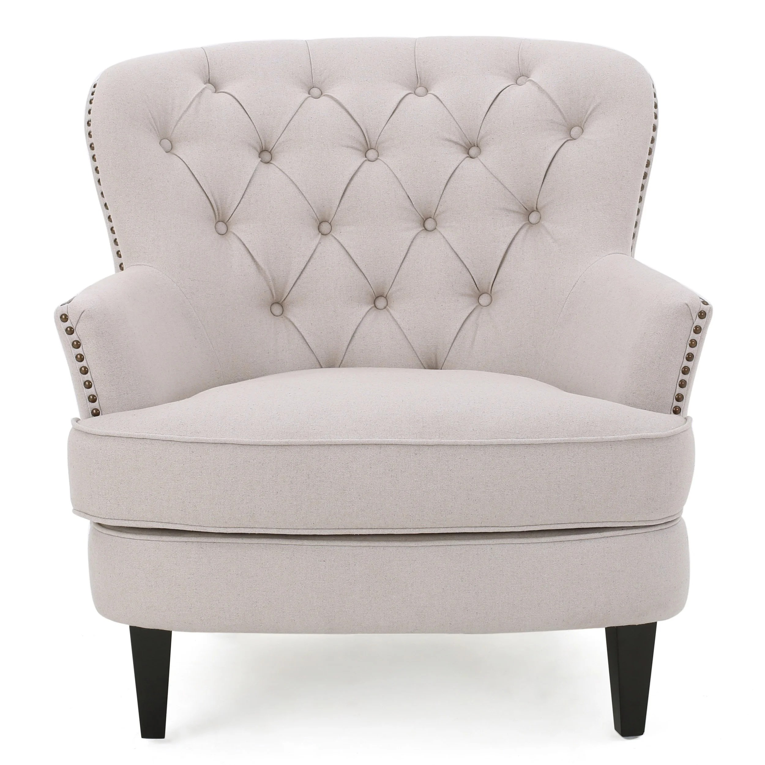 christopher knight club chair cool modern dining chairs tafton tufted fabric with ottoman by