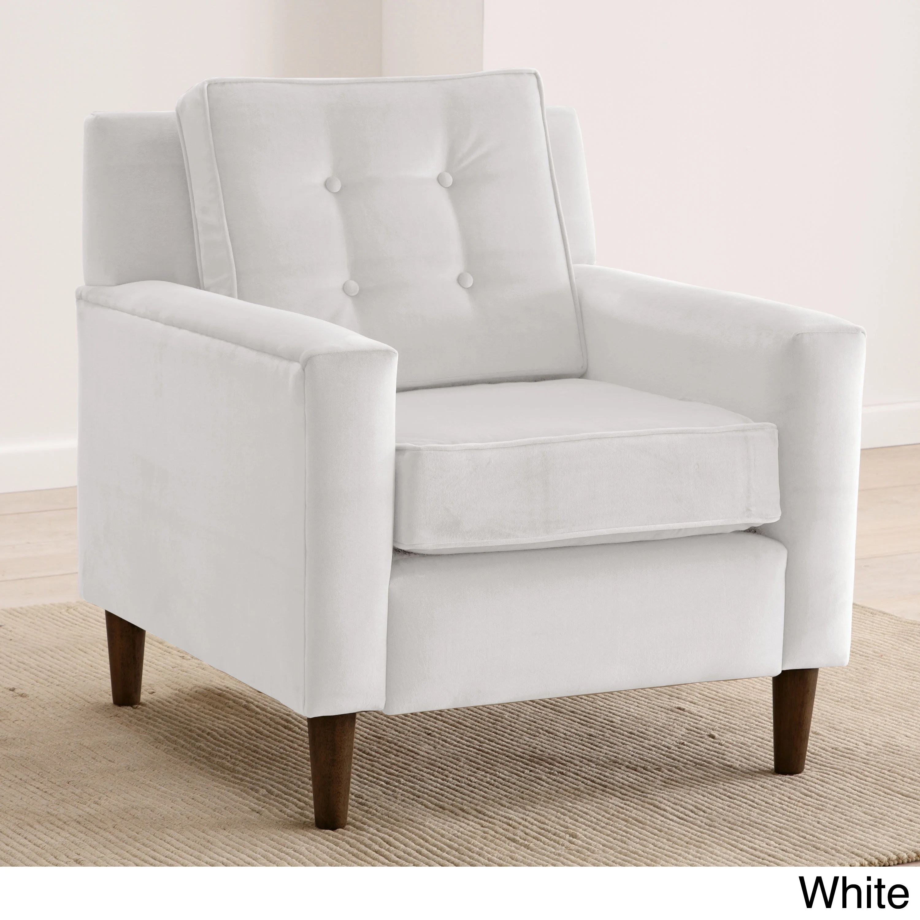 skyline furniture accent chairs white modern dining chair velvet upholstered tufted