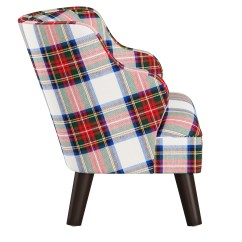 Kids Accent Chair Tommy Bahama Outdoor Chairs Skyline Furniture In Plaid Ebay