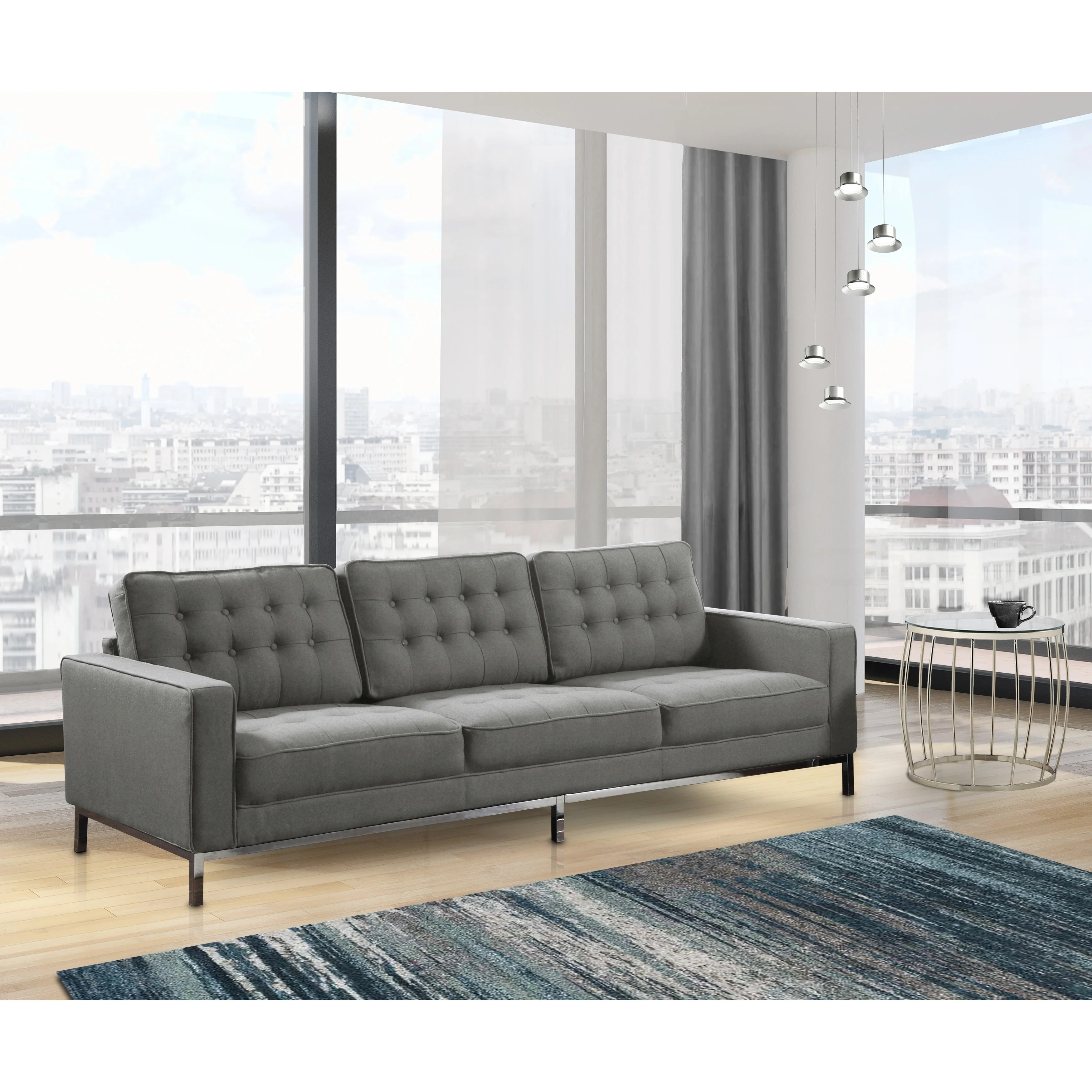 sterling sofa new dimension factory los angeles chic home linen upholstered ebay