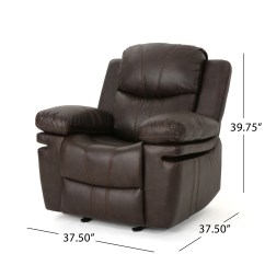 Christopher Knight Club Chair Queen Anne Dining Evelyna Classic Leather Gliding Recliner By