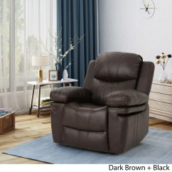 Darvis Leather Recliner Club Chair Brown Christopher Knight Home Swivel Rockers Chairs Evelyna Classic Gliding By