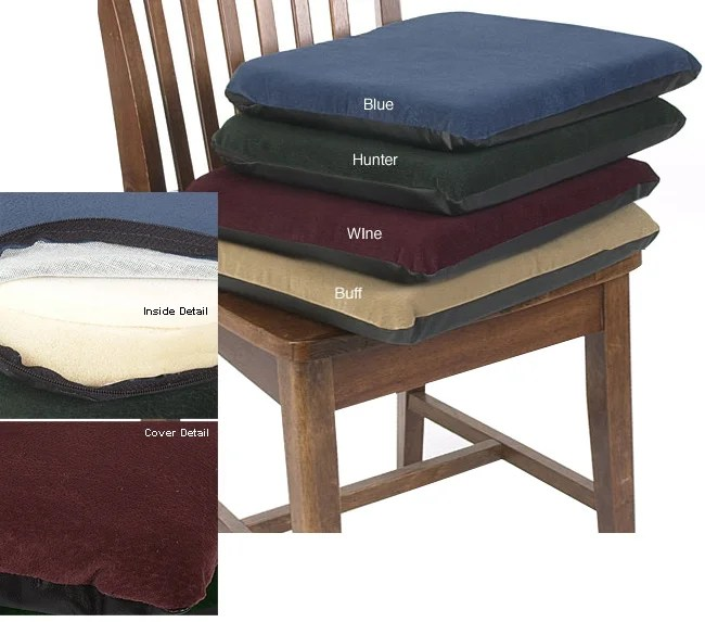 dining chair cushions non slip fuzzy desk covers sueded memory foam non-slip seat cushion - overstock shopping great deals on hudson pads