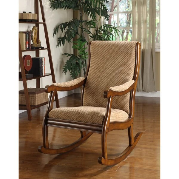 Furniture of America Antique Oak Rocking Chair  Overstock