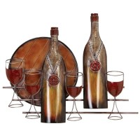Bottles and Glasses Metal Wall Decor - Overstock Shopping ...