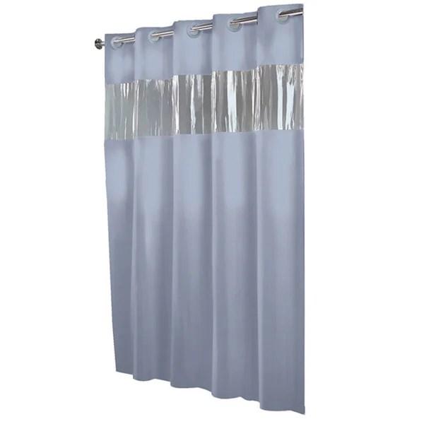 Hookless Blue PEVA Shower Curtain  Overstock Shopping