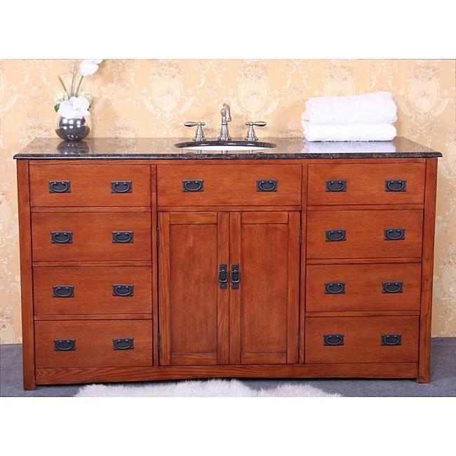 Granite Top 60inch Single Sink Bathroom Vanity