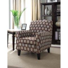 Cream Club Chair Telescope Beach Chairs With Wheels Circle Fabric Design Overstock
