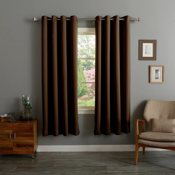 Aurora Home Thermal Insulated 72- Blackout Curtain Pair - 52 X 72