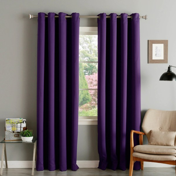 Aurora Home Grommet-top Thermal Insulated 120- Blackout Curtain Panel Pair