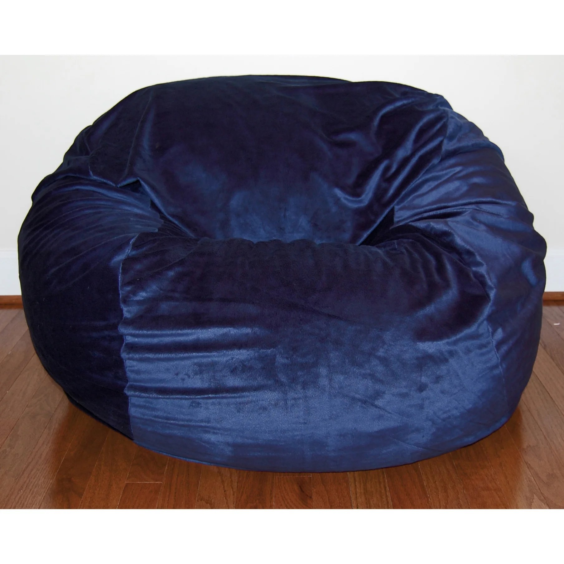 bean bag chair cost threshold windsor dining black ahh products cuddle minky sage washable large