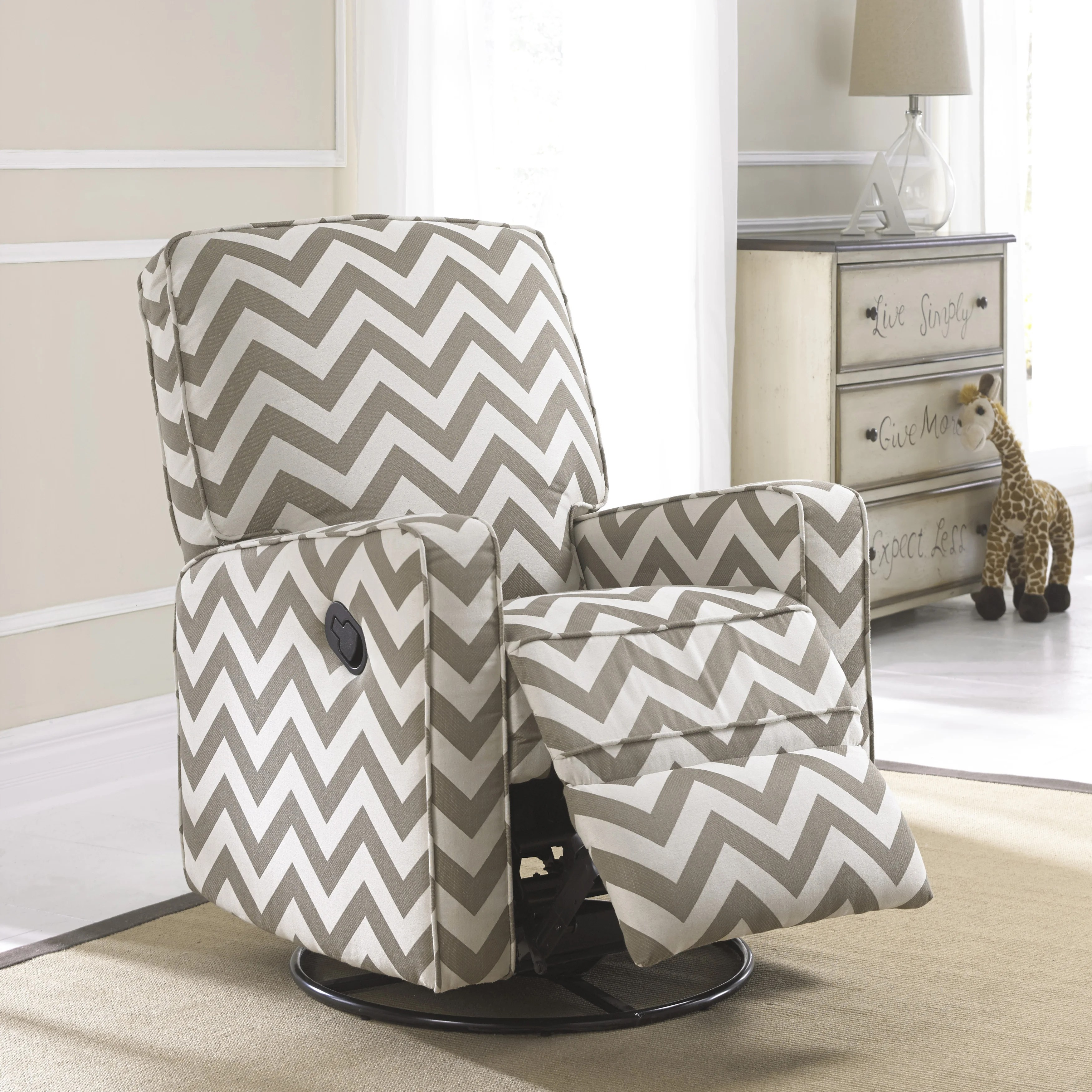kids upholstered rocking chair cushion to relieve back pain rocker recliner nursery ~ thenurseries