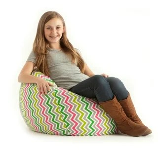 fufsack sofa sleeper lounge chair futon bed townsville beansack classic small zig zag multi print bean bag ...