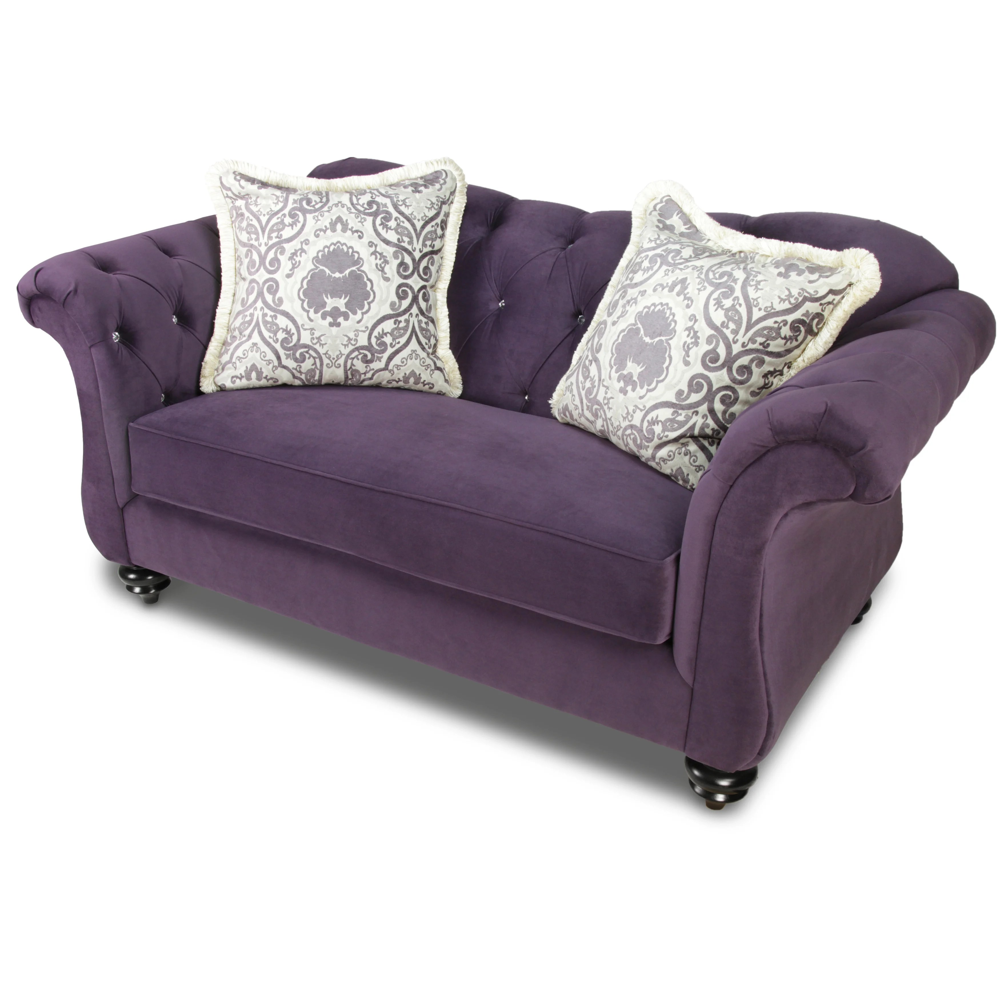agatha sofa reviews patio cushions furniture of america traditional tufted loveseat