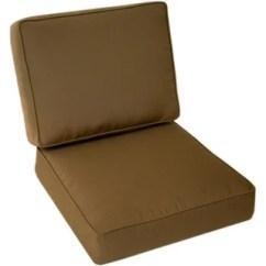 Patio Club Chair Isokinetics Ball Sale Trijaya Living Sunbrella Universal Cushion Cocoa