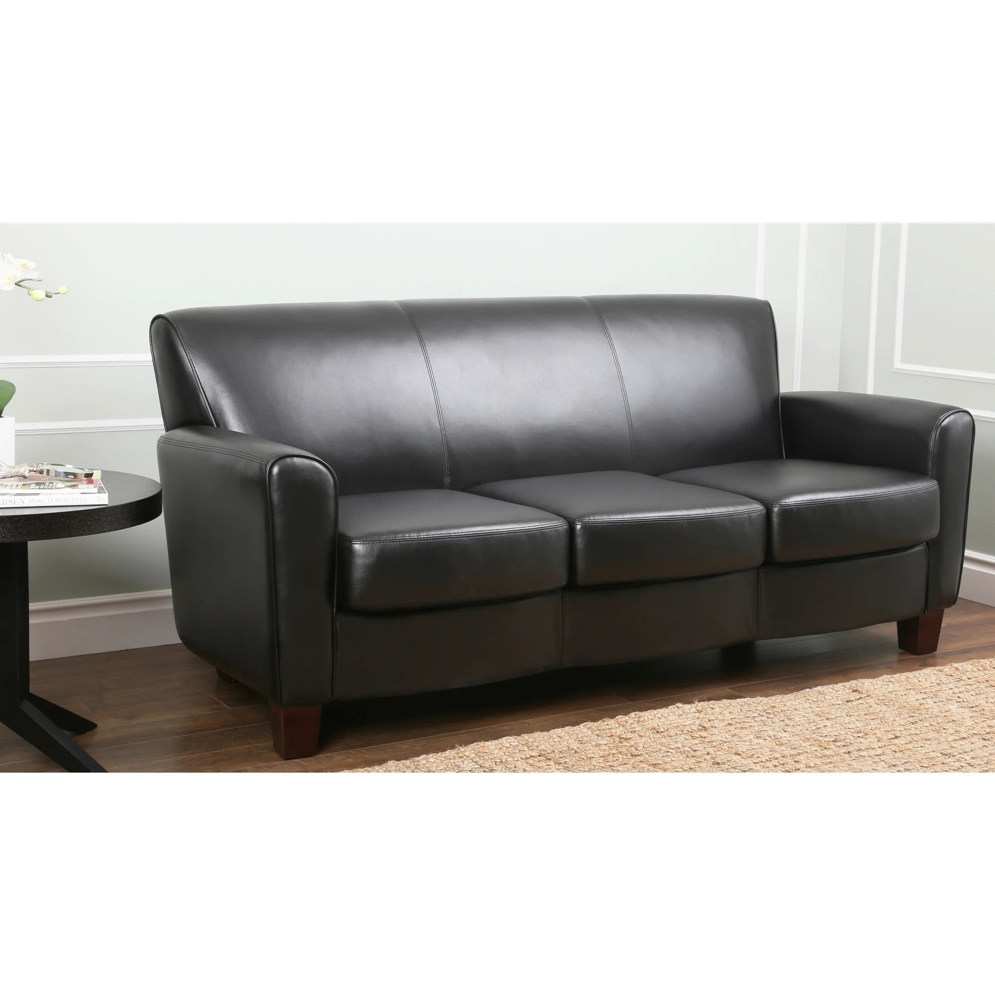 abbyson living westbury leather sectional sofa black best sofas made in usa easton overstock