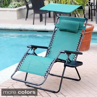 overstock zero gravity chair head covers oversized sunshade with drink tray (set of 2)