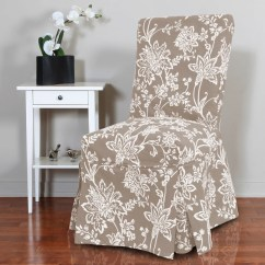 Chair Covers Overstock High Capacity Office Verona 1 Piece Floral Relaxed Fit Full Pleat Dining