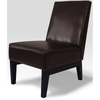 Hutton Armless Bi-cast Leather Accent Chair - Overstock ...