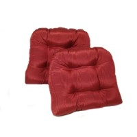 Pearlescent Red Kitchen/ Dining Chair Pads (Set of 2 ...