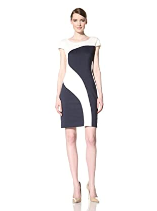 Chetta B Women's Colorblock Dress (Navy/Ivory)