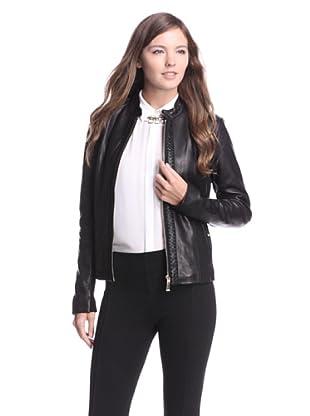 Elie Tahari Women's Elsa Leather Jacket (Black)