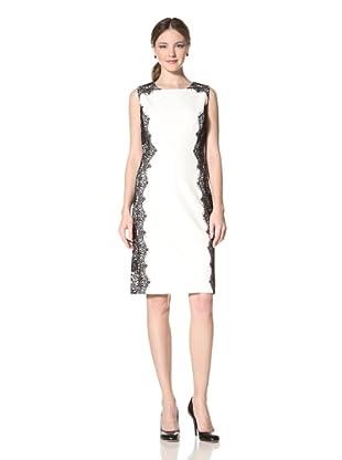 Chetta B Women's Sheath Dress with Lace (Ivory)