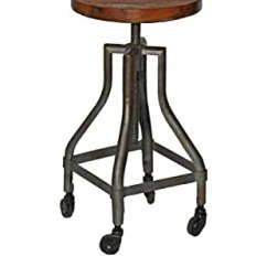 Revolving Chair Bar Stool Dining Covers Design Leather Furniture From Mélange Home | Dlh, Designer Looking