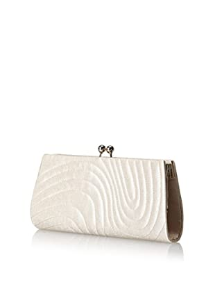 Jessica McClintock Women's Quilted Wave Clutch, Champagne