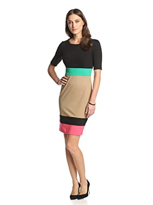 Nue by Shani Women's Colorblock Dress (black/combo)